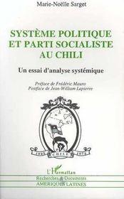 Systeme Politique Et Parti Socialiste Au Chili - Intérieur - Format classique