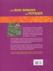 Les bons mariages au potager ; associer les cultures pour la santé du jardin - 4ème de couverture - Format classique