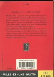 Le Nez D'Un Notaire - 4ème de couverture - Format classique