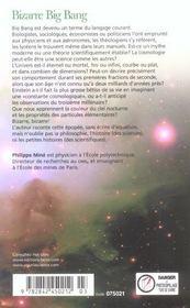 Bizarre Big Bang. - 4ème de couverture - Format classique
