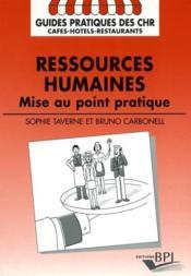 Ressources Humaines Mise Au Point Pratique - Couverture - Format classique