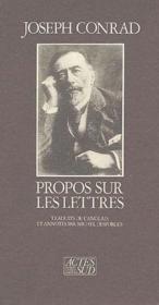 Propos Sur Les Lettres - Couverture - Format classique
