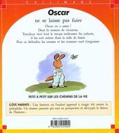 Oscar Ne Se Laisse Pas Faire - 4ème de couverture - Format classique