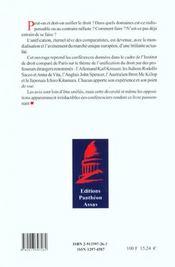 Unifier Le Droit : Le Reve Impossible - 4ème de couverture - Format classique