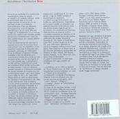 L'architecture nord-américaine ; tendances 1990-2000 - 4ème de couverture - Format classique