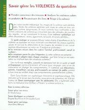 Savoir Gerer Les Violences Quotidiennes - 4ème de couverture - Format classique