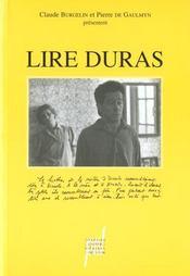 Lire Duras - Intérieur - Format classique