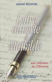 Lettre ouverte a mathilde - Couverture - Format classique