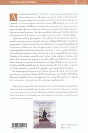 Alexander Mitterlisch. Psychanalyse Societe Et Histoire - 4ème de couverture - Format classique