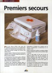 Petit Guide T.220 ; Premiers Secours - Intérieur - Format classique