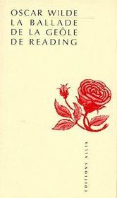 La ballade de la geôle de Reading - Intérieur - Format classique