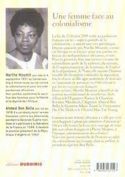 Victime du colonialisme francais mon mari felix moumie - 4ème de couverture - Format classique