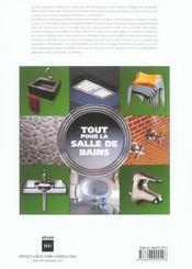 Tout Pour La Salle De Bains - 4ème de couverture - Format classique