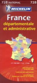 France départementale et administrative (édition 2012)  - Collectif Michelin