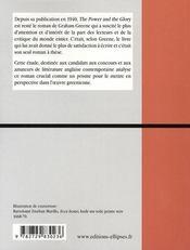 The power and the glory ; le credo de graham greene - 4ème de couverture - Format classique