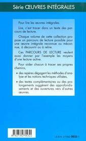 Pierre Et Jean - Parcours De Lecture - 4ème de couverture - Format classique