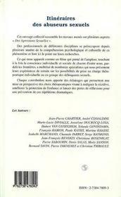 Itineraires Des Abuseurs Sexuels - 4ème de couverture - Format classique