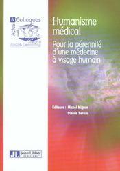 L'humanisme medical pour la perennite d'une medecine a visage humain - Intérieur - Format classique