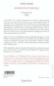 L'assassin royal t.10 ; serments et deuils - 4ème de couverture - Format classique