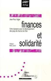 Finances et solidarite - Couverture - Format classique