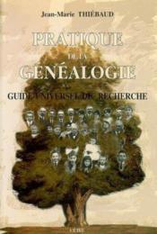 Pratique De La Genealogie - Couverture - Format classique