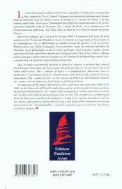 Droit Dans La Culture Americaine (Le) - 4ème de couverture - Format classique