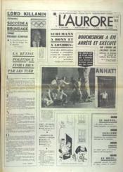 Aurore (L') N°8702 du 24/08/1972 - Couverture - Format classique