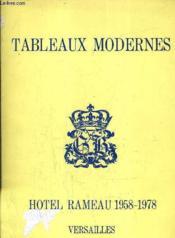 Catalogue Des Ventes Aux Encheres - Tableaux Modernes Hotel Rameau Le 26 Novembre 1978. - Couverture - Format classique