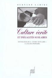Culture ecrite et inegalites scolaires - Intérieur - Format classique