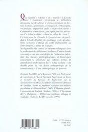 Culture ecrite et inegalites scolaires - 4ème de couverture - Format classique
