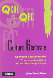 Culture Generale Concours Administratifs 1ers Cycles Universitaires Iep - Intérieur - Format classique