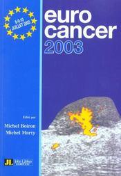 Eurocancer 2003 - Intérieur - Format classique