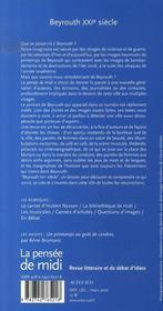 Revue La Pensee De Midi N.20 ; Beyrouth, Xxi Siècle - 4ème de couverture - Format classique
