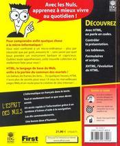 Html 4 Pour Les Nuls ; 3e Edition - 4ème de couverture - Format classique