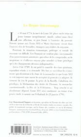 Louis Xvi - 4ème de couverture - Format classique