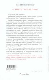 Le Fameux Coup De Jarnac - 4ème de couverture - Format classique