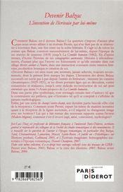 Devenir Balzac - 4ème de couverture - Format classique