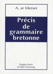 Précis de grammaire bretonne - Couverture - Format classique