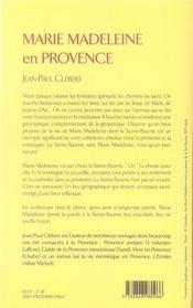 Marie madeleine en provence - 4ème de couverture - Format classique