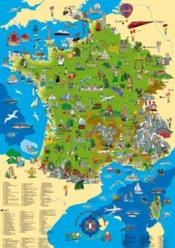 Vente livre :  La Carte De France Illustree 100 X 70 Cm  - Xxx