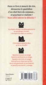 Journal intime d'un chat acariâtre - 4ème de couverture - Format classique