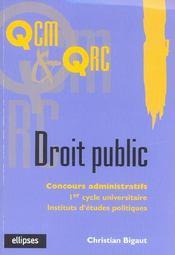 Droit Public Concours Administratifs 1er Cycle Universitaire Iep - Intérieur - Format classique
