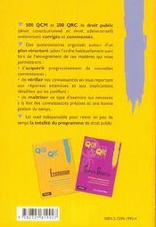 Droit Public Concours Administratifs 1er Cycle Universitaire Iep - 4ème de couverture - Format classique