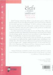 Clefs Des Textes Medievaux. Pouvoir Savoir Et Interpretation - 4ème de couverture - Format classique