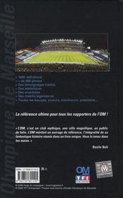 Le dictionnaire officiel de l'Olympique de Marseille - 4ème de couverture - Format classique