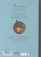 Peau d'âne - 4ème de couverture - Format classique
