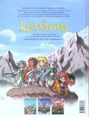 Les légendaires t.3 ; frères ennemis - 4ème de couverture - Format classique