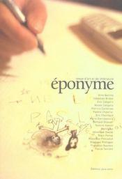 Eponyme n.1 - Intérieur - Format classique