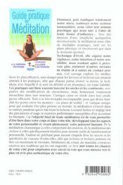 Guide Pratique De Meditation - 4ème de couverture - Format classique