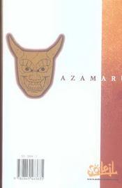 Azamaru T.2 - 4ème de couverture - Format classique